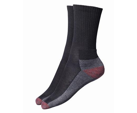 DCK00008 Black Cushion Crew Socks