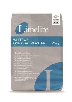 Limelite Whitewall One Coat Plaster - 25kgishing plaster designed for use with Limelite Renovating Plaster as well as traditional sand and cement mixes.