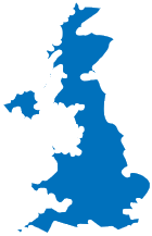Map of the UK mainland