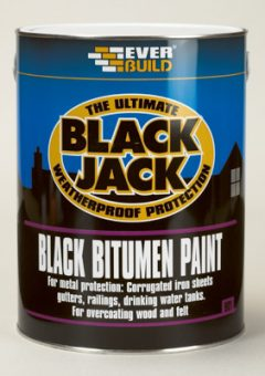 Everbuild 901 Black Bitumen Paint - 5 Litre (Box of 4) 4
