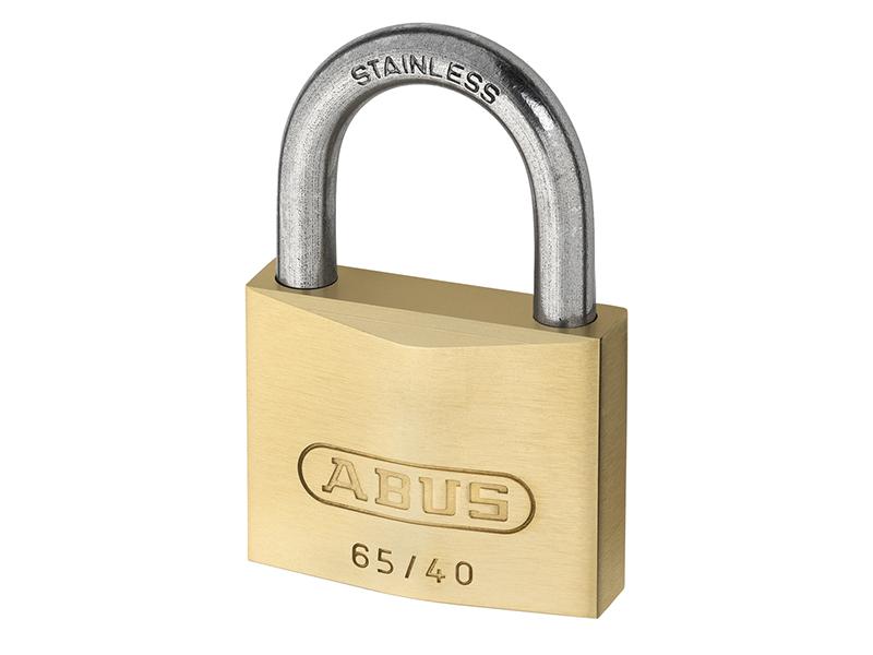 65IB/40mm Brass Padlock Stainless Steel Shackle Keyed Alike 6404 - ABUKA12539 1
