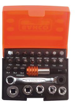 2058/S26 Ratchet Socket Set of 26 Metric 1/4in Drive - BAH2058S26 5