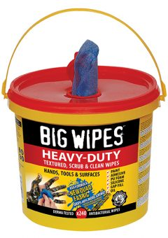 4x4 Heavy-Duty Cleaning Wipes Bucket of 240 - BGW2427 4