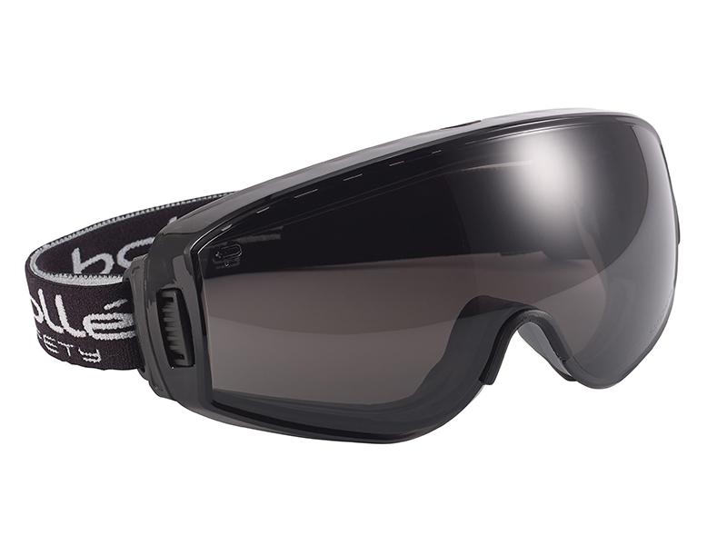 Pilot Ventilated Safety Goggles - Smoke - BOLPILOPPSF 1