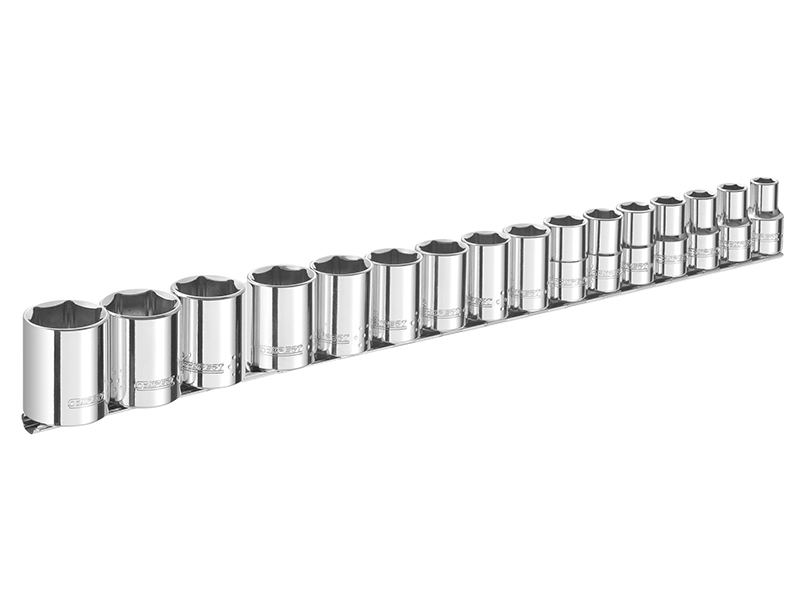 Socket Set of 16 Metric 1/2in Drive - BRIE032902B 1