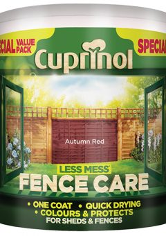 Less Mess Fence Care Autumn Red 6 Litre - CUPLMFCAR6L 3