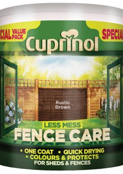 Less Mess Fence Care Rustic Brown 6 Litre - CUPLMFCRB6L 9