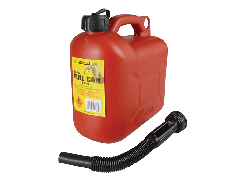 Leaded Petrol Can & Spout Red 5 Litre - D/ICAN1 1
