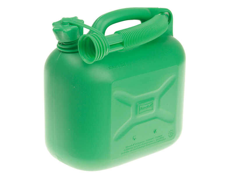 Unleaded Petrol Can & Spout Green 5 Litre - D/ICAN2 1