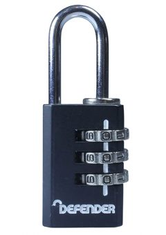 Black Diecast Combination Padlock 20mm - DEFCOMBI20 5
