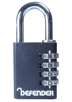 Black Diecast Combination Padlock 40mm - DEFCOMBI40 5