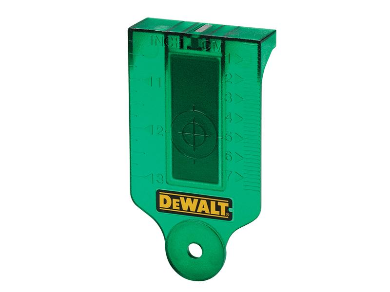 DE0730G Green Laser Target Card - DEWDE0730G 1