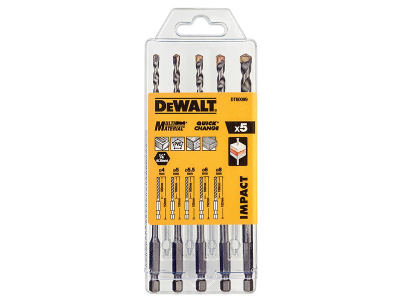 DT60099 Extreme Impact Masonry Drill Bit Set 5 Piece - DEWDT60099QZ 1
