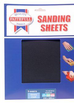 Alox Cloth Sheets 280 x 230mm Assorted Fine Medium & Coarse (3) - FAIAECSP3A 2
