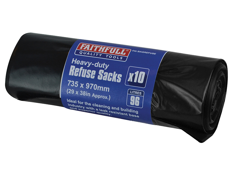 Heavy-DutyBlackRefuseSacks(10) in stock at Builders SuperStore - get yours today!