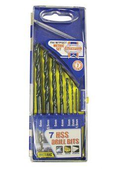 HSS Drill Bit Set of 7 1.5 - 6.0mm - FAIM7PSET 1