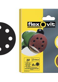 Hook & Loop Sanding Discs 125mm Medium 80G (Pack 15) - FLV26708 3