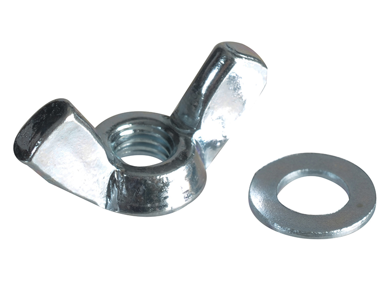 Wing Nut & Washers ZP M5 Forge Pack 12 - FORFPWING5 1
