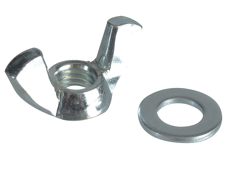 Wing Nut & Washers ZP M8 Forge Pack 8 - FORFPWING8 1