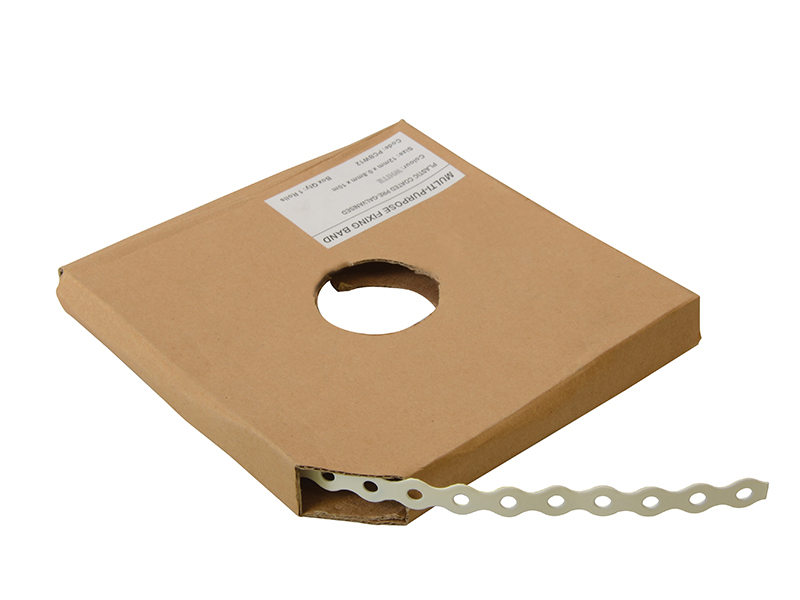 White Plastic Coated Pre-Galvanised Band 17mm x 0.8 x 10m Box 1 - FORPCBW17 1