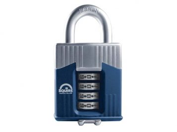Warrior High-Security Open Shackle Combination Padlock 45mm - HSQWC45 1