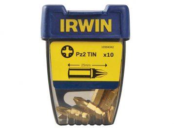Screwdriver Bits Pozi PZ2 25mm Titanium Pack of 10 - IRW10504342 1