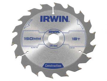 Construction Circular Saw Blade 150 x 20mm x 18T ATB - IRW1897089 1