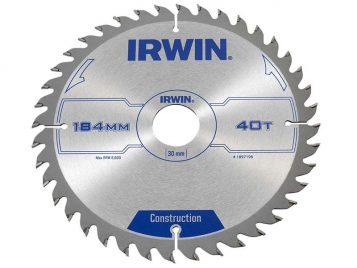 Construction Circular Saw Blade 184 x 30mm x 40T ATB - IRW1897198 1