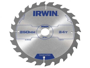 General Purpose Table & Mitre Saw Blade 250 x 30mm x 24T ATB - IRW1897210 1