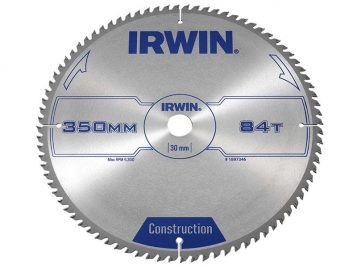 General Purpose Table & Mitre Saw Blade 350 x 30mm x 84T ATB - IRW1897346 1