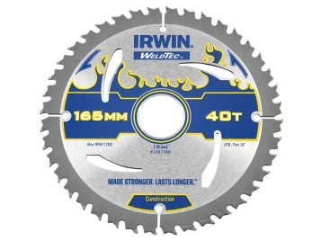 Weldtec Circular Saw Blade 165 x 30mm x 40T ATB - IRW1897366 1
