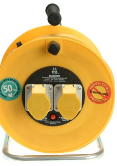 Cable Reel 50 Metre 16A 110 Volt Thermal Cut-Out 10