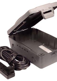 Weatherproof Box with 10 Metre 240 Volt 4 Way Bar 5