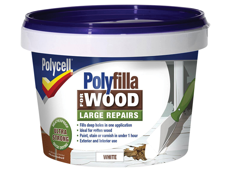 Polyfilla 2 Part Wood Filler White 500g 1