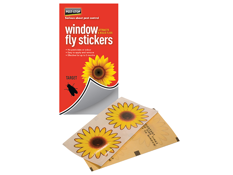 Window Fly Stickers Pack of 4 1
