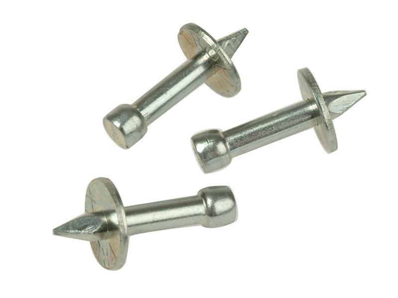 04 044 Washered Masonry Nails 3.7 x 25mm Pack of 100 1
