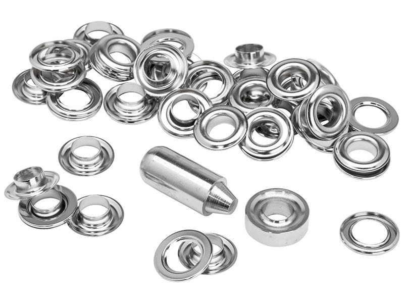 Grommets 10 x 21mm (25) + Metal Anvil & Hammer 1
