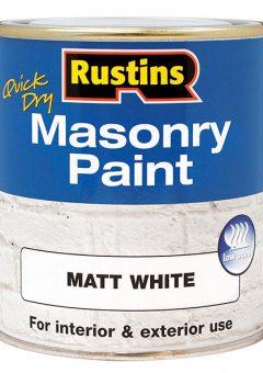 Quick Dry Masonry Paint White 250ml 4
