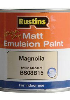 Quick Dry Matt Emulsion Paint, Magnolia 250ml 5