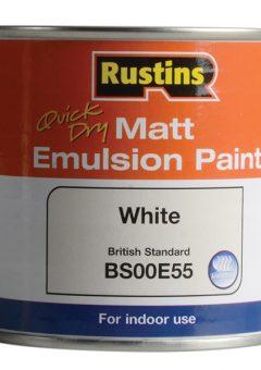 Quick Dry Matt Emulsion Paint, White 250ml 11