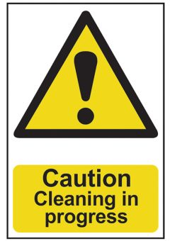 Caution Cleaning In Progress - PVC 200 x 300mm 10