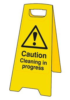Caution Cleaning In Progress Heavy-Duty A Board 11