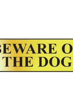 Beware Of The Dog - Polished Brass Effect 200 x 50mm 6
