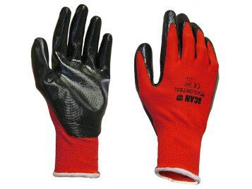Palm Dipped Black Nitrile Gloves Size 8 Medium 1