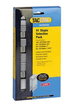 91 Narrow Crown Divergent Point Staples Selection - Electric Tackers Pack 2800 2