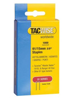91 Narrow Crown Staples 40mm - Electric Tackers Pack 1000 3