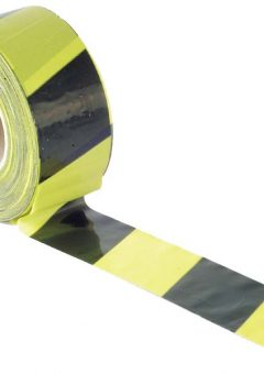 Barrier Tape 70mm x 500m Black & Yellow - FAITAPEBARBY 3