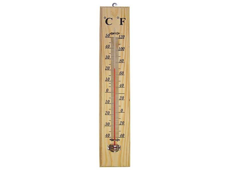 Wall Thermometer - Wood 400mm - FAITHWOODLG 1
