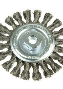 Knot Wheel Brush 125 x 14mm 22.2mm Bore Steel Wire 0.50 - LES473211 9