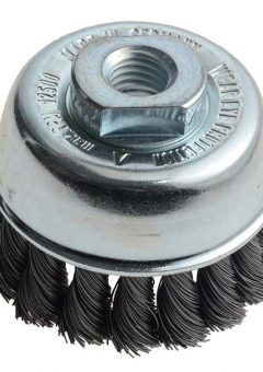 Knot Cup Brush 65mm M14 x 0.35 Steel Wire - LES482117 8